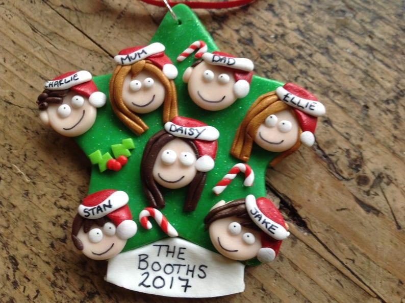 Gift ideas Xmas tree decoration Personalised Christmas image 1