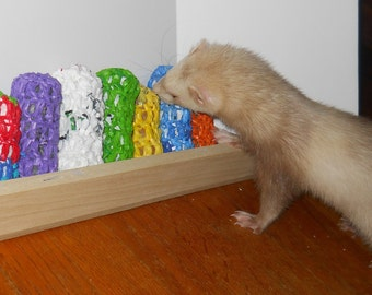 "Ferret Toy, Ferret supply, Ferret hoarding, ""The Plarn Burrito"""