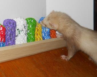 "Ferret Toy, Ferret supply, Ferret hoarding, ""The Plarn Burrito"""