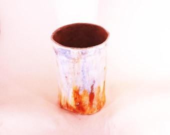 Unique burnishing vase, unique vase, 100% waterproof, decorative vase, burnishing ceramic, handmade ceramic, handmade vase, handmade decor