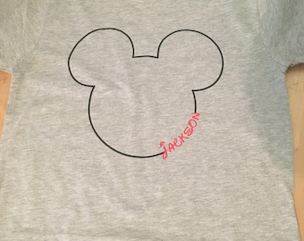 Mickey Mouse shirt, with name, Disney shirt