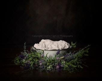 2 Newborn Digital backdrops / backgrounds / bath  / newborn / sitter / toddler / flowers / garland / Ivy / Instant download