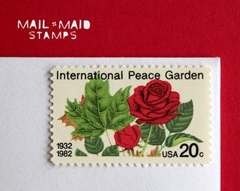 International Peace Garden || Set of 50 unused vintage postage stamps