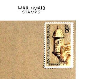 San Juan, Puerto Rico    Set of 10 unused vintage postage stamps  Listing Stats
