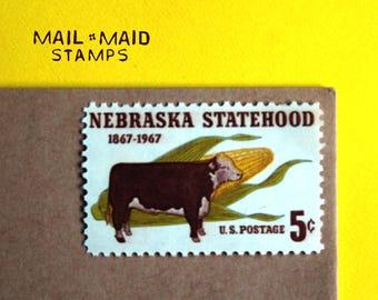 Nebraska Statehood || Set of 10 unused vintage postage stamps