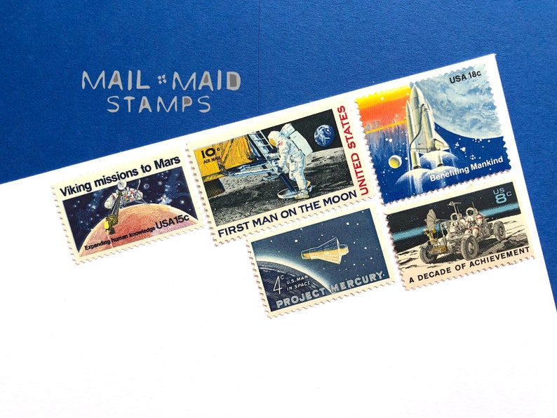 Space Exploration  Set of unused vintage postage stamps to image 0