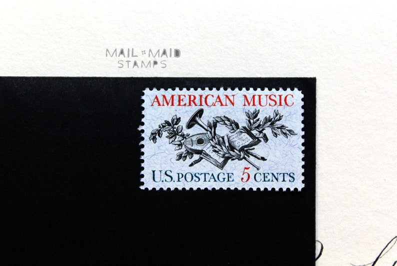 American Music  Set of 10 unused vintage postage stamps image 0