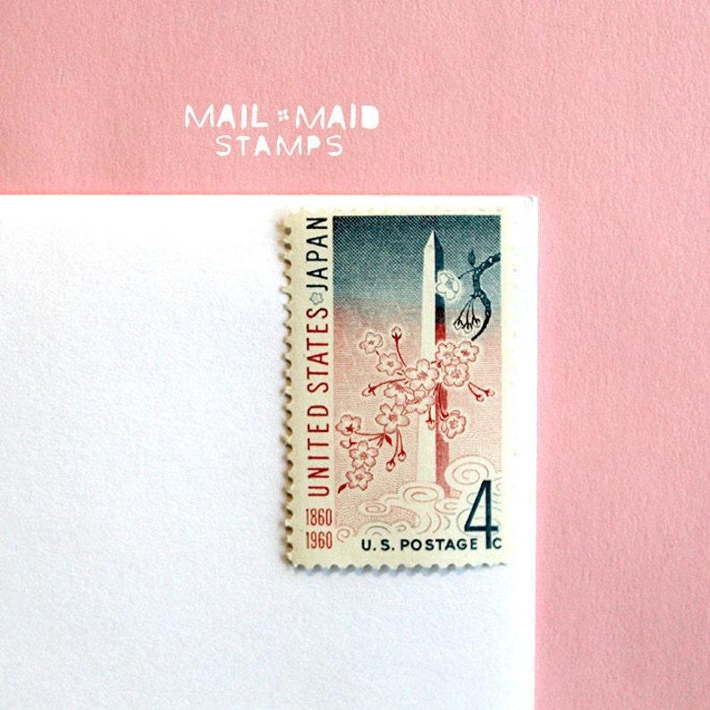 Cherry Blossoms  Japan Treaty  Set of 100 unused vintage image 0