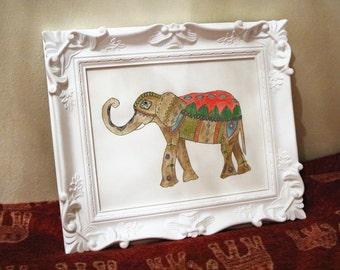 Hippie elephant drawing