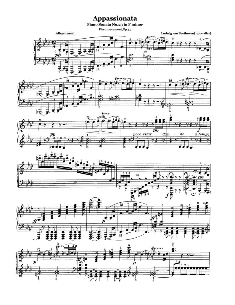 Sonata No. 23 in F-Minor, Op. 57