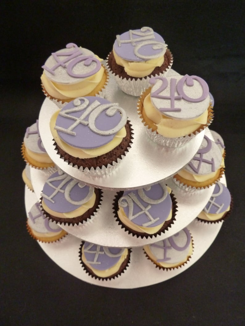 Edible Birthday cupcake toppers