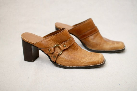 Leather Block-Heel Mules - image 8