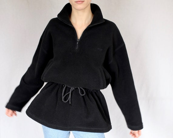 DKNY Fleece Drawstring Quarter-zip