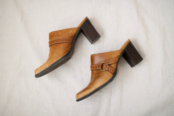 Leather Block-Heel Mules - image 6