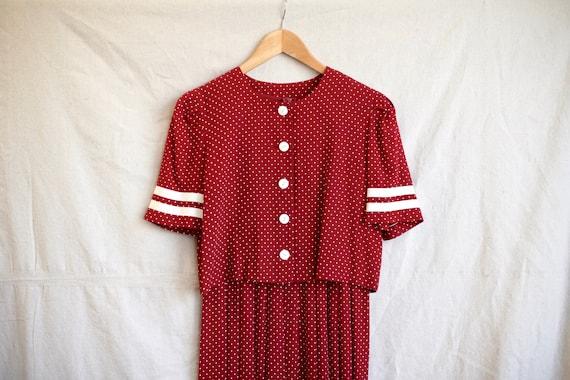 Micro-dot Pleated Dress