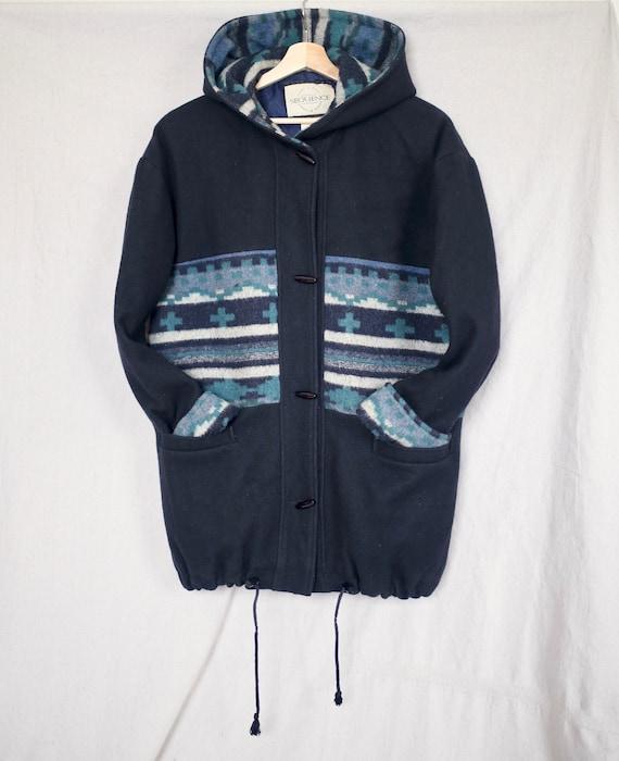 Navajo Hooded Wool Jacket