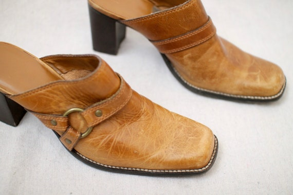 Leather Block-Heel Mules - image 4