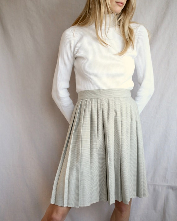 High-waisted Tennis Skirt in Grey