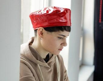 Latex chlorinated beret beret