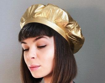 33aa5a5f64f40 Leather beret beret hat berets faux leather beret hats