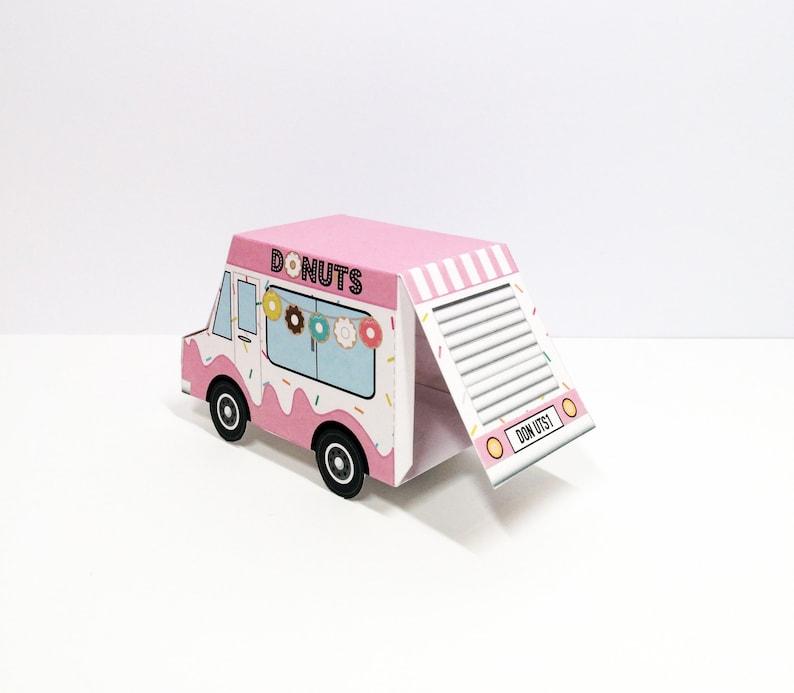 Personalise Instant Download Donut Van Favour Box  Donut Van  Favor Box  Printable  Birthday  Digital download  Party  Wedding Favour