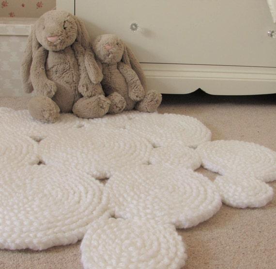 Weißen Teppich. Kinderzimmer Teppich. Kreis-Teppich. | Etsy