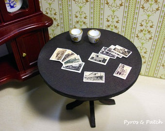 Set of 10 vintage miniature italian postcards 1:12 for dollhouse good clarity printing Cartoline d'epoca in miniatura per casa delle bambole