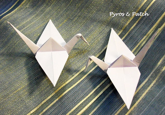 Origami Segnaposto Matrimonio.100pz Cranes 3 Origami Paper 80g Mono Color For Etsy