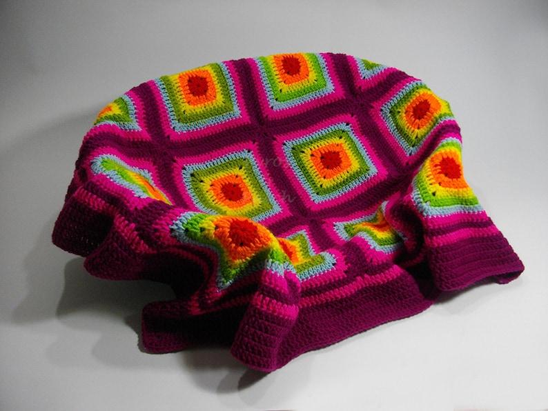 Quadrati a uncinetto per coperte coperta come realizzare la