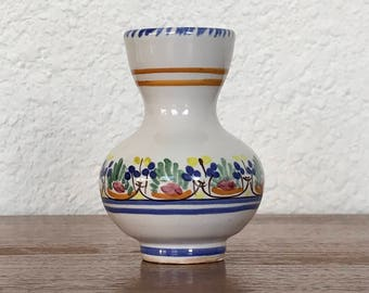 Vintage Ceramic Bud Vase Hand Painted In Spain