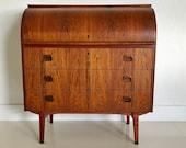 Egon Ostergaard Designed Swedish Rosewood Roll Top Desk