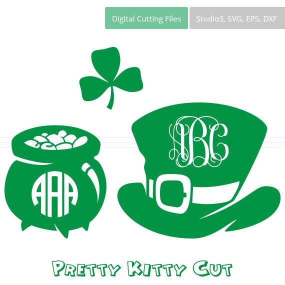 St Patricks Day Svg Monogram Frames Instant Download Cut Etsy