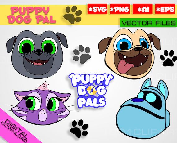 Puppy Dog Pals Svg Png Rolly Bingo Hissy A R F Clipart Puppy Etsy