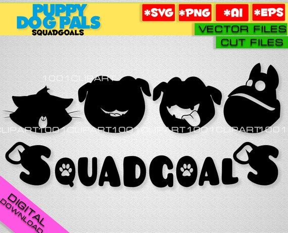 Puppy Dog Pals Svg Cricut Silhouette Squadgoals Svg Rolly Etsy
