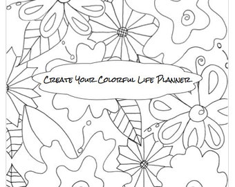 3 Months Flower Create Your Colorful Life Planner Undated Printed