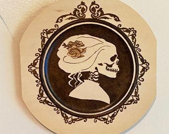Gothic Silhouette Woman Wall Art