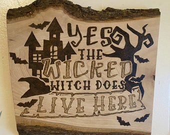 The Wicked Witch Halloween Wall Decor