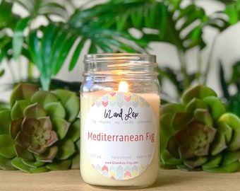 Mediterranean Fig Soy Candle/Soy Candle/Candle/Summer Scent/Summer Candle