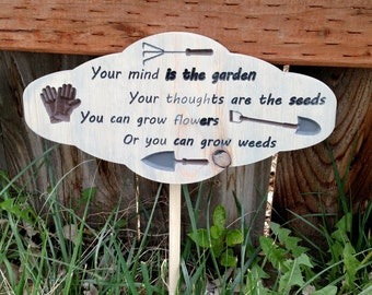 Mind is the Garden sign