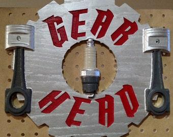 Gear Head Sign