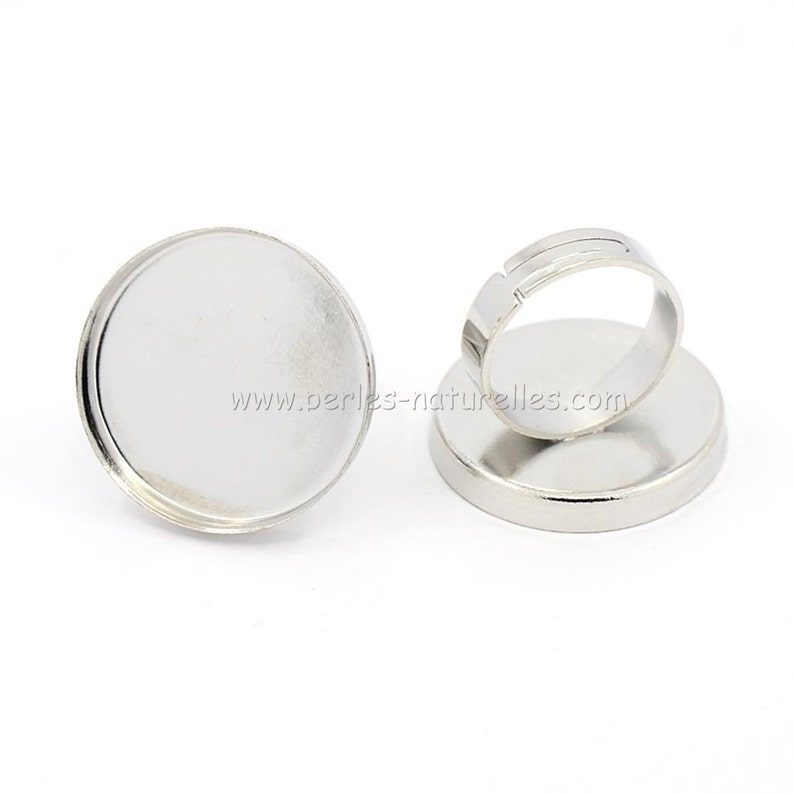 11050100 Cabochon Ring Antique Silver Adjustable Cabochon Ring 25mm