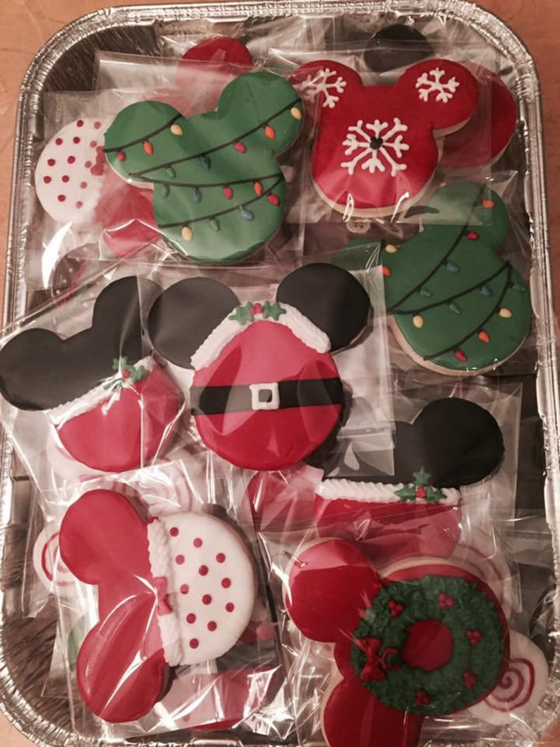 Mickey Mouse Christmas Sugar Cookies