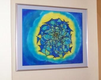 ZuverläSsig Seidenmalerei Bild Kunst Indien Internationale Antiq. & Kunst