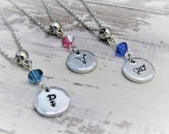 Bisexual symbol necklace