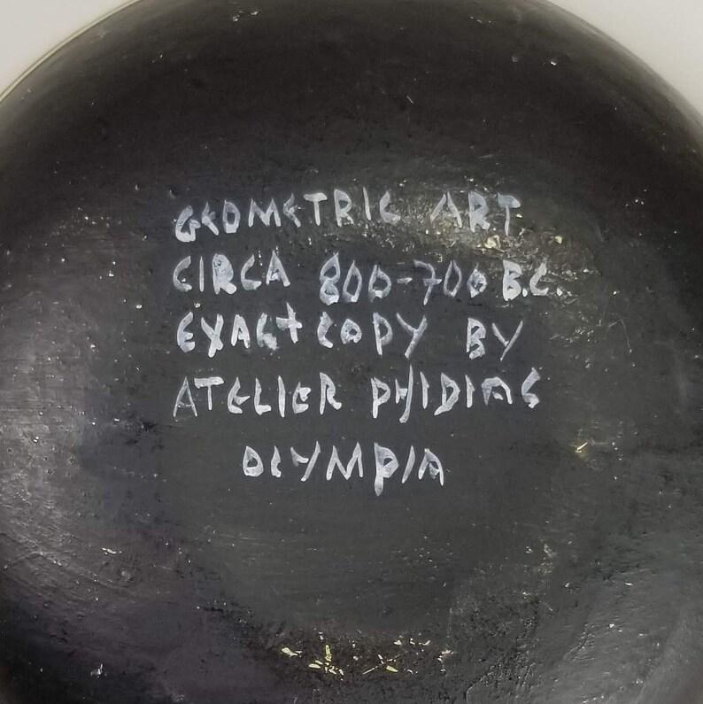 Geometric Oil Lamp Ancient Greece Reproduction by Atelier Phidias 800-700 B.C.