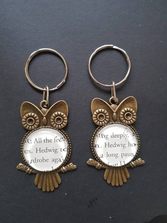 Harry Potter OWL Metal Pendant Keychain Keyring Collection Gift