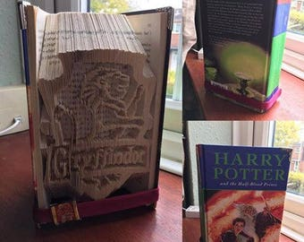 Harry Potter Gryffindor / Bookfold, gift, Present, Birthday, Christmas, Deathly Hallows, Ron Weasley, Hermione Granger, Hogwarts