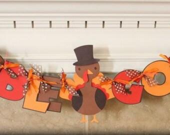 Thanksgiving Turkey Banner/Thanksgiving banner