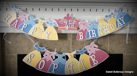 Cinderella Letter Art BannerPrincess PartyPrincess BirthdayShower BannerPrincess ShowerPrincess DecorationsRoyal Princess