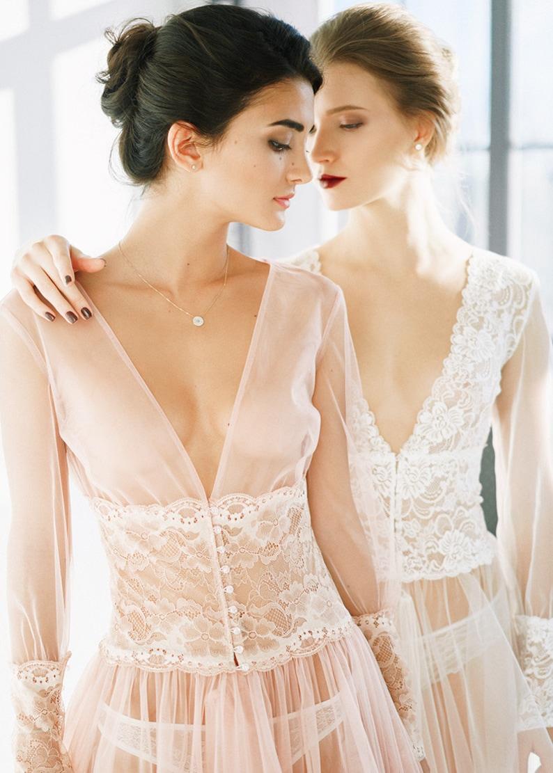 a571749ce Blush rose wedding dress Blanca Rouse Tulle boudoir dressing